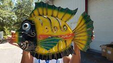 X-LARGE NAUTICAL COASTAL DESIGN TROPICAL FISH WALL DECOR WITH PROTECTIVE COATING