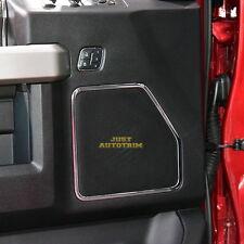 2P Chrome Front sound Speaker frame cover trim Kit for 15-17 Ford F150 door