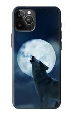 S3693 Grim White Wolf Full Moon Case for IPHONE Samsung Smartphone ETC