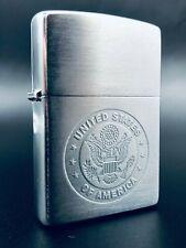 Zippo 1999 US Medallion Stamped Lighter - Original Box