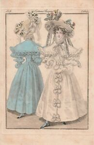 Illustration Journal des dames et de la Mode—Costumes Parisiens—N° 2614—1828
