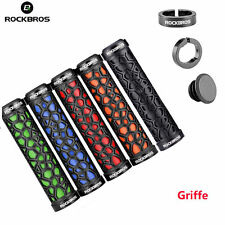 Rockbros Cycling Handle Sets Aluminum Alloy Double Lock Anti Skid Rubber Grips