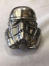 Star Wars Stormtrooper mask helmet 3D heavy metal chrome plated belt buckle 2005