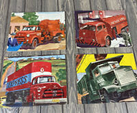 Set Of 4 Vintage 1954 Wonder Books Inc Sifo Co Childrens Puzzles AJAX Acme Oil