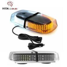 Amber/White Roof Top 240 LEDs Emergency Strobe Light Safety License Plate Light