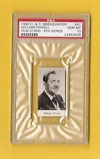 William Powell 1940 C&T Bridgewater Film Stars Card #41 PSA 10 GEM MINT