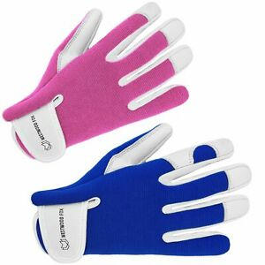 Ladies / Mens Leather Gardening Gloves Thorn Proof Garden work gloves