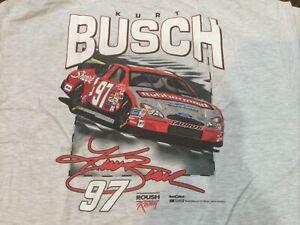 Vintage Nascar Kurt Busch Shirt NWTJumbo Print Dead stock XL NIP Sharpie