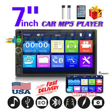 7 Inch 2DIN Car Radio Stereo Bluetooth Touch Screen AUX USB Mirror Link US STOCK
