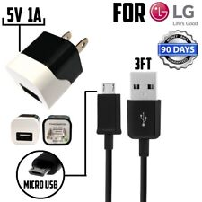 5V 1A WALL HOME CHARGER + MICRO USB CABLE FOR LG MCS-01WR / G2 G3 G4 V10 Lucid
