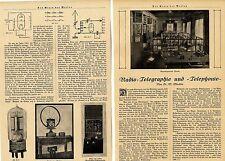 Radio-télégraphiques et telephonie * âge illustré de 1924
