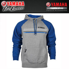 NEW X-LARGE YAMAHA CLASSIC HOODED SWEATSHIRT GREY/BLUE CRP-16FST-GY-XL