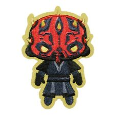Star Wars Darth Maul Patch Sith Lord Emoji Chibi Embroidered Iron On Applique