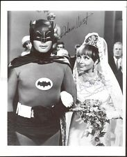 BATMAN TV CAST - PHOTOGRAPH SIGNED CO-SIGNED BY: CAROLYN JONES, ADAM WEST