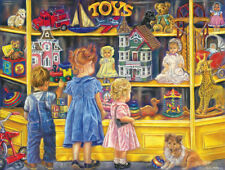 Jigsaw Puzzle Before There Were Malls Shopping For Toys 300 pieces NEW Made USA