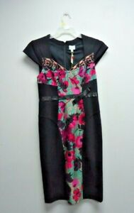 Tracy Reese Wool/Silk Blend Contrast Sculpted Dress Size 8 $389 NWT