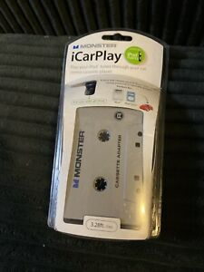 Monster iCarPlay Cassette Tape Car Adapter for iPod Mp3 & iPhone NEW SEALED
