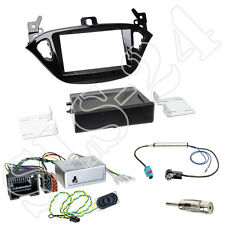 OPEL Adam S-D Doppel-DIN Blende+Fach Alpine CAN-Bus Lenkradinterface+Antenne Set
