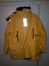 Quark Expeditions  Size M Yellow Hooded Fleece Lined Jacket NEW