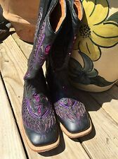 Cowboy Pro Handmade Bling Leather Cowgirl Boots 8 1/2