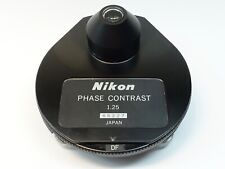 Nikon 125 Phase Contrast Microscope Condenser W Df Ph1 Ph2 Ph3 Ph4 Amp 0
