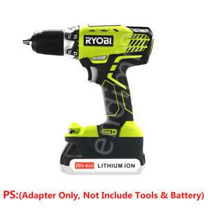 1Pcs BLACK&DECKER 20V Li-ion Battery to RYOBI 18V Power Tools Batteries Adapter