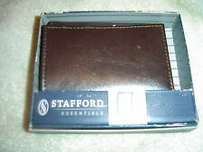 Stafford Brown Trifold Wallet, Genuine Leather, NI Box-3