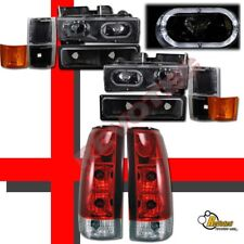 94 95 96 97 98 Chevy CK Full Size Pickup Tahoe Halo Headlights & Tail Lights