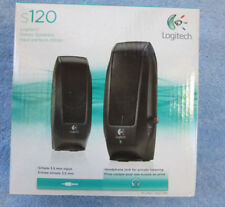 Logitech S120 Powered Multimedia Stereo Speakers - Black