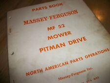 "Massey-Ferguson Mf52 ""Mower Pitman Drive"" Parts List. 1st.1967!"