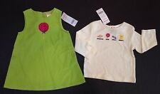 NWT Gymboree Outlet Candy Shoppe 12-18 Months Lollipop Corduroy Jumper Dress Tee