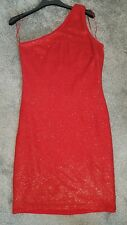 91cdbb368d27c Shimmering Red Sequin One Shoulder Dress From NEXT