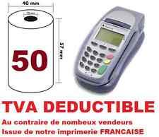 50 ROULEAUX BOBINES THERMIQUES CARTE BANCAIRE TPE 57 X 40 X 12 tva déductible