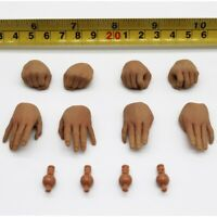 """Custom 1/6 Scale Middle Finger Hand and Adapter Set For 12"""" Male Figure"""