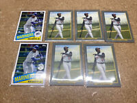 Lot Of 7 Topps 2020 Update Ken Griffey Jr Cards 1985 Throwback And Turkey Red