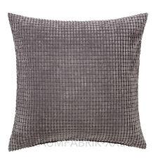 IKEA gullklocka Housse de coussin Gris décoratif Taie d'oreiller 50x50cm écrit