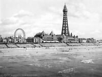 View From North Pier Blackpool Lancashire England 1895 Canvas Art Print