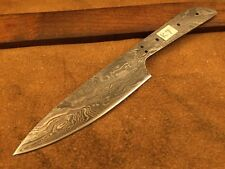 Handmade Damascus Steel Chef-Kitchen Blank Blade-Knife Making-Klinge-K7