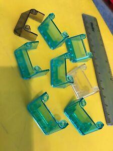 LEGO CAR PARTS - 8 x Vehicle Windscreens mixed Blue shades /  mixed shapes