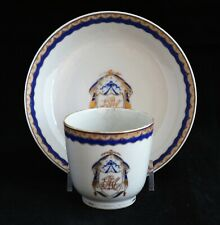 Antique 18th c. Chinese Export Porcelain Tea Cup American Federal Market