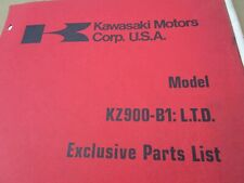 1976 Kawasaki Kz900 B1 Exclusive Parts List Catalog Fiche Manual Book