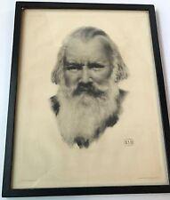 Johannes Brahms Composer Print Franz Hanfstaengl 19th Century PK 422