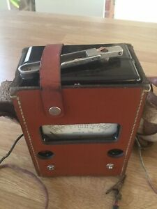Vintage Megger 500 volt Tester.Hand crank operated. Original leather case & Book