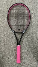 Used Prince Warrior 107L Pink and Black Tennis Racquet Grip Size 2
