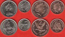 Falkland Islands set of 4 coins: 1 - 10 pence 1998-2004 UNC