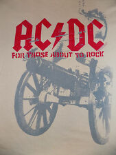 AC/DC For Those About To Rock T Shirt Size Medium Size 18 Beige