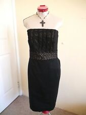 AUTOGRAPH Gold Black LACE DRESS Size 20 Lined Cocktail Party Evening Gothic Glam