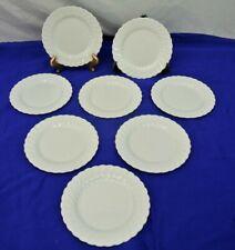 JOHNSON BROS SNOWHITE REGENCY,EARTHENWARE,ENGLAND, SET OF 8, DESSERT PLATES