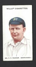 WILLS - CRICKETERS (WILLS's) - #2 MR P F WARNER, MIDDLESEX