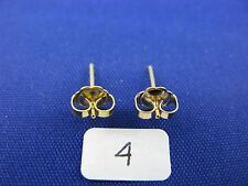 14K Gold  Friction Pushback Push Back Earrings Backs with Posts(1 Pair)  item #6